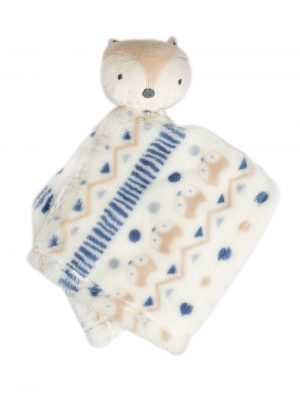 Fox Yellow & Blue Blanket Plush Snuggler