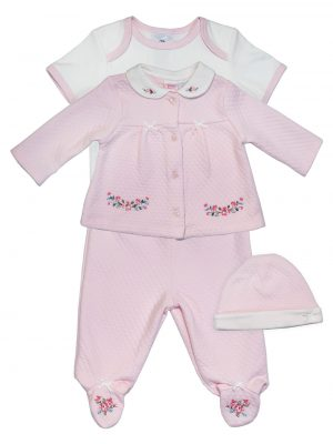 Pirnk 4 Piece Set - Girl Baby Clothes Set