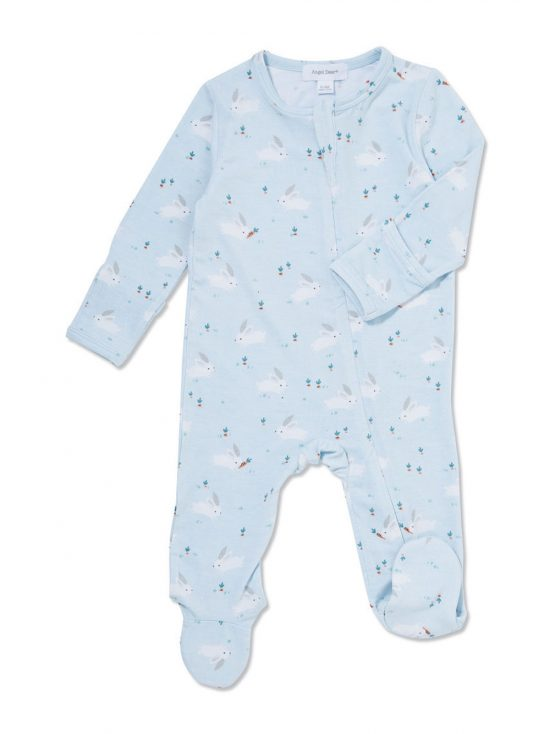 Baby Bunnies Blue Footie Main
