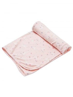 Baby Bunnies - Pink Swaddle Blanket