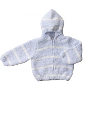 Cardigan Chenille Hoodie - Blue Ivory Main