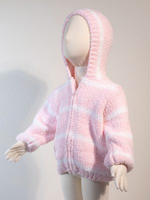 Chenille Hoodie - Pink Ivory Alternate