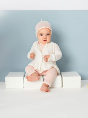 Seed Cardigan White Warm Baby