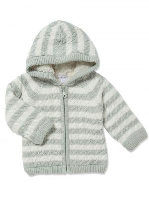 Cardigan Sherpa Hoodie Grey Main