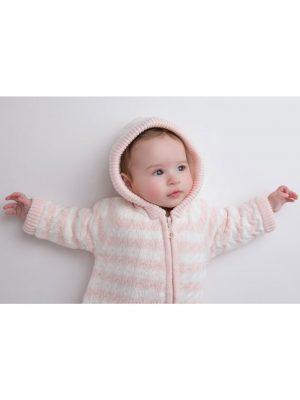 Cardigan Sherpa Hoodie Pale Pink Warm Baby 1