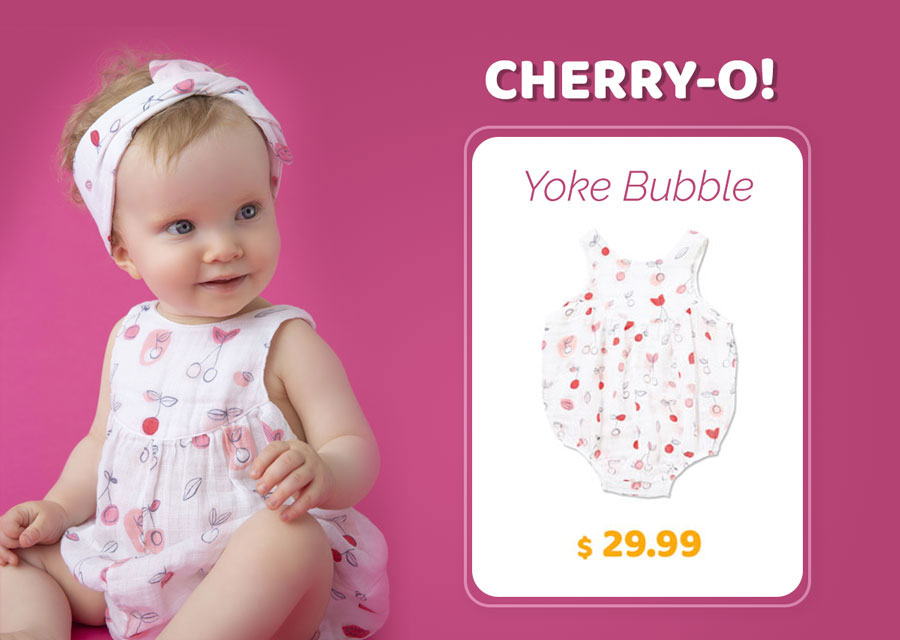 Cherry O - Muslim Yoke Bubble Onesie