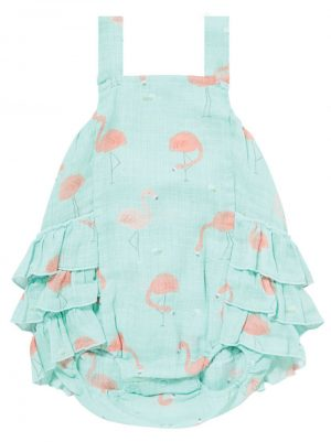 Flaming Muslin Ruffle Sunsuit