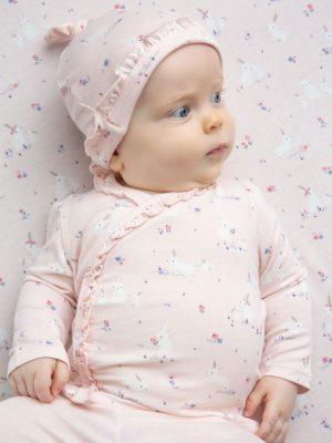 Baby Bunnies Pink - Kimono Top & Footie