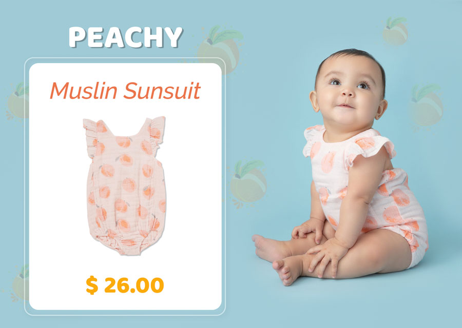Peachy Muslin Ruffle Sunsuit for $26.00