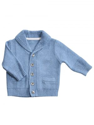 Shawl Collar Cardigan Blue HEeather