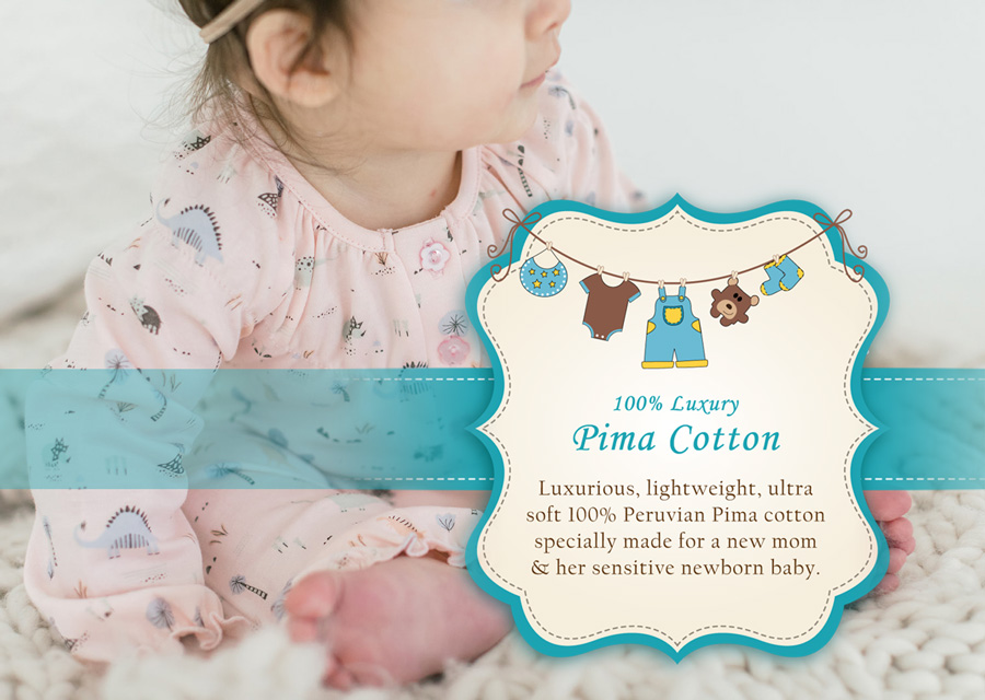 Baby Clothes Luxury Pima Cotton Sensitive Baby