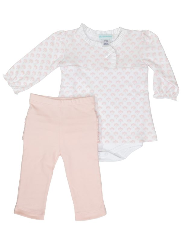 Feather Baby - Front Crossover Twosie Set - Christine Floral Collection - Baby Outfits