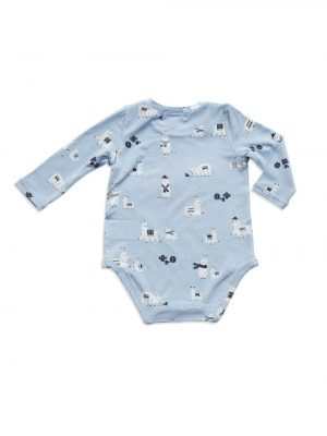 Blue Bodysuit llamas Back - Angel Dear