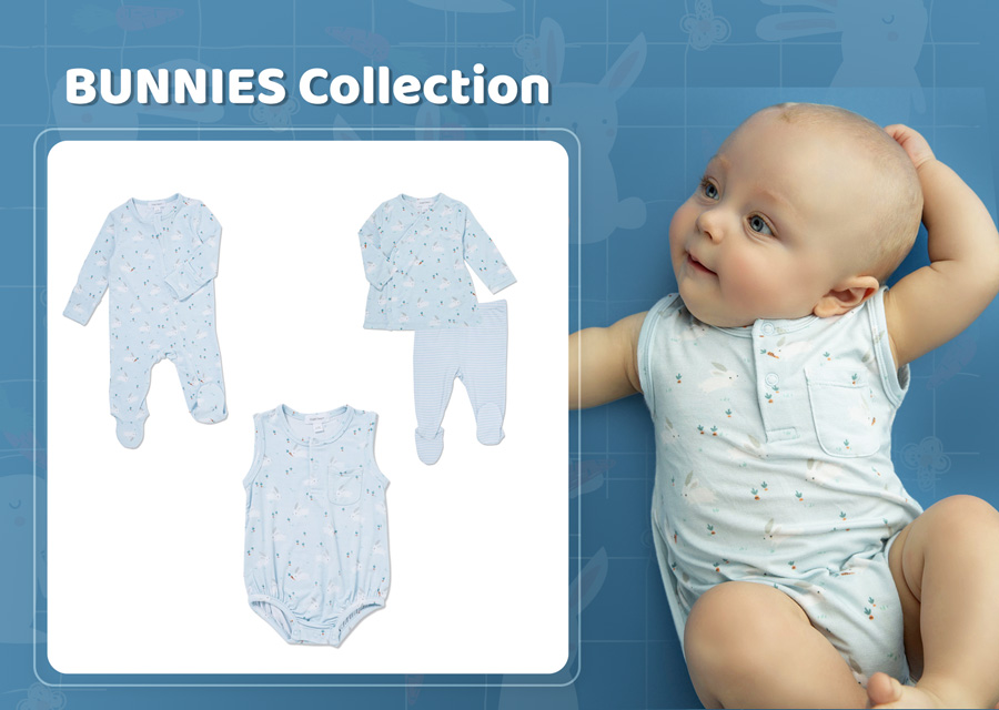 Baby Blue Bunnies Baby Clothes Collection