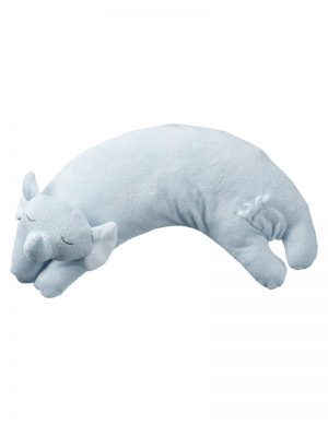 Blue Elephant Curved Pillow for Babies