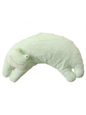 Green Froggy Curved Pillow for Babies